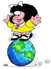 mafalda con mapa